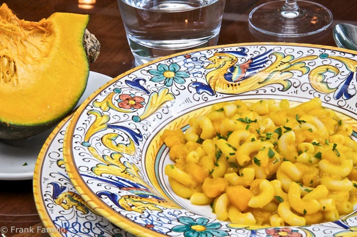 Pasta with Winter squash