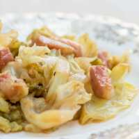 Verza stufata (Braised Savoy Cabbage)