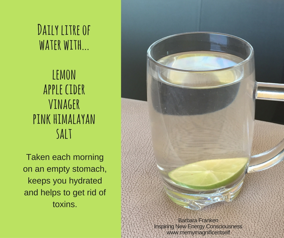 Daily litre of waterwith...lemonapple cider vinagerpink himayayan salt