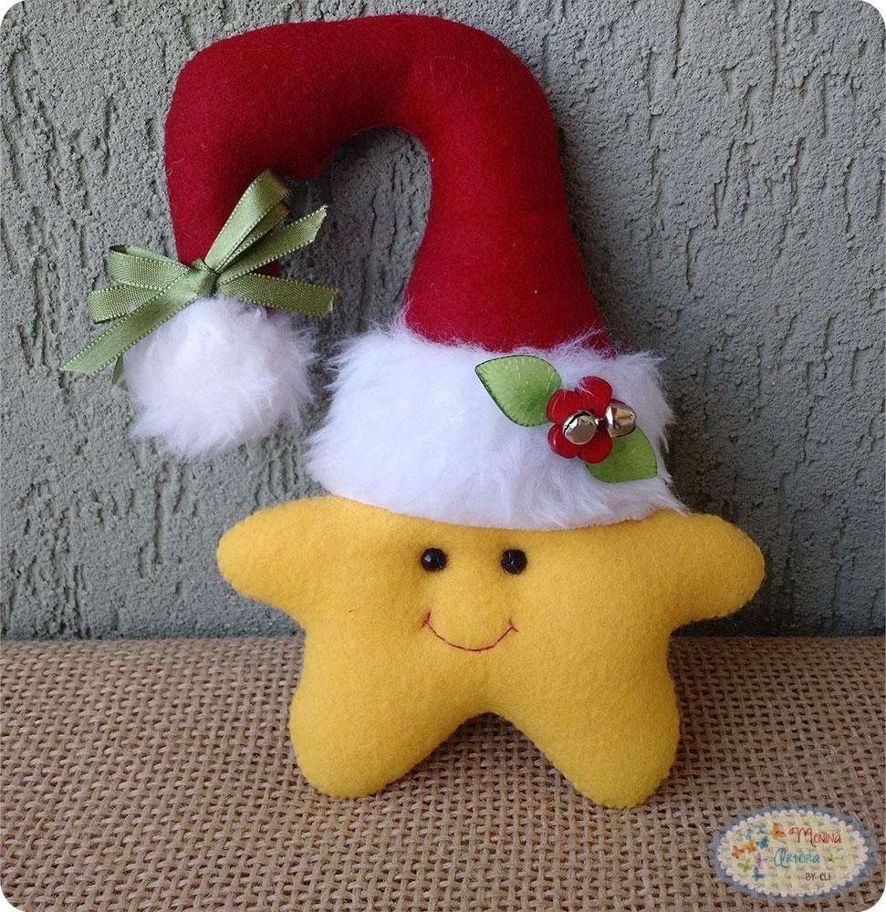 enfeites de natal para jardim passo a passo : enfeites de natal para jardim passo a passo:Enfeites de Natal Passo a Passo – Estrela para Maçaneta » Menina