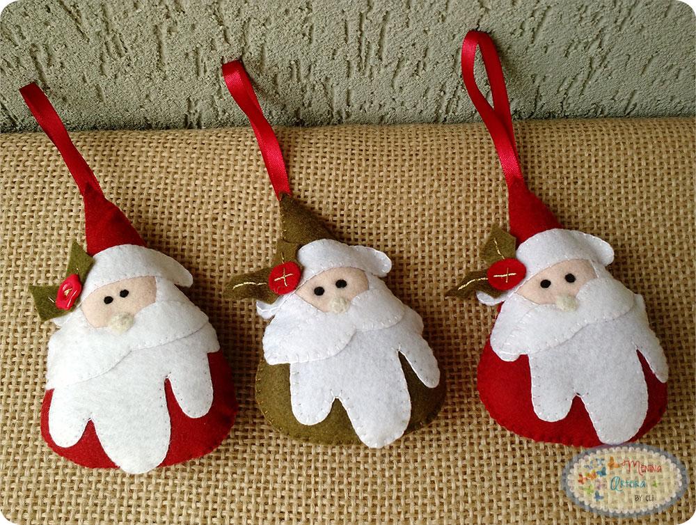 Enfeite de Natal Passo a Passo - Papai Noel