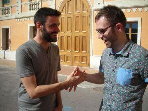 Los dos últimos ganadores del Premi Born de Teatre: Xavi Morató (izquierda) y Carles Mallol.