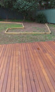Deck Completed and garden bed up the back!