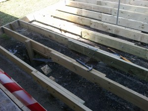 Silver Ridge Community Cottage beams for the Sun Deck.
