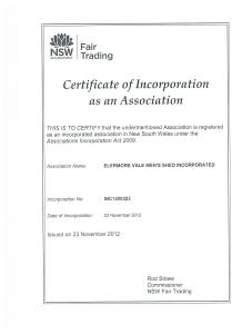 Incorporation Certification title is finally here.