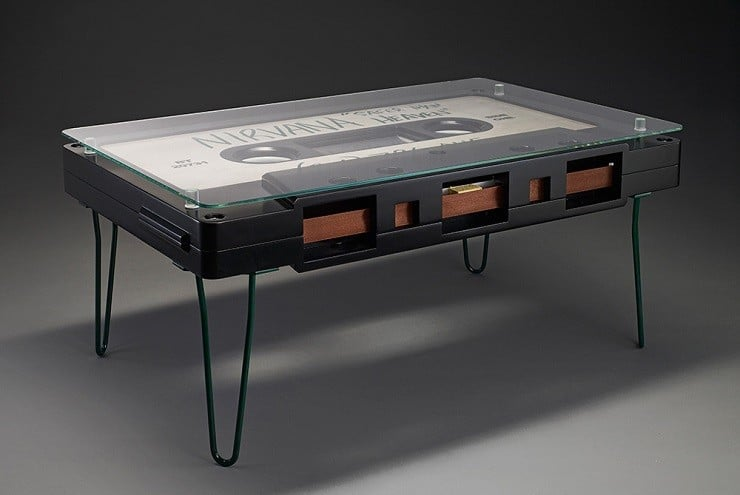 Cassette coffee tables by altar furniture men 39 s gear for Ausgefallene sofas