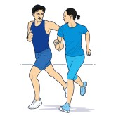 running with your partner