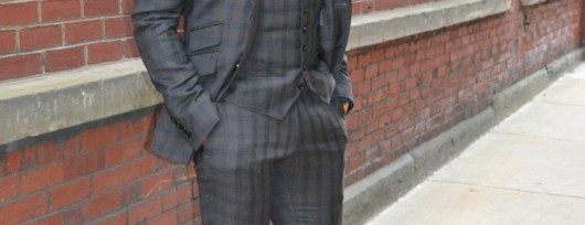 indochino olive green checked suit