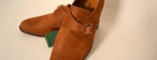 mantorii custom nubuck monk strap