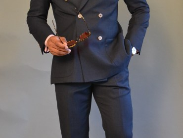 Sabir Peele in Alfa Clothiers Custom Suit
