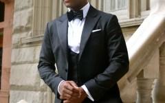 Sabir Peele in Dragon Inside custom Tuxedo