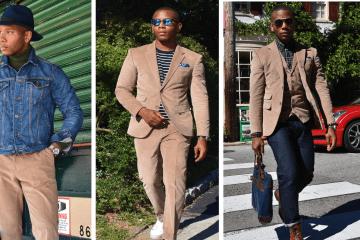 Sabir M. Peele of Men's Style Pro Styled & Wearing Indochino Corduroy Suit