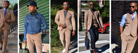 Sabir M. Peele of Men's Style Pro Styled & Wearing Indochino Corduroy Suit