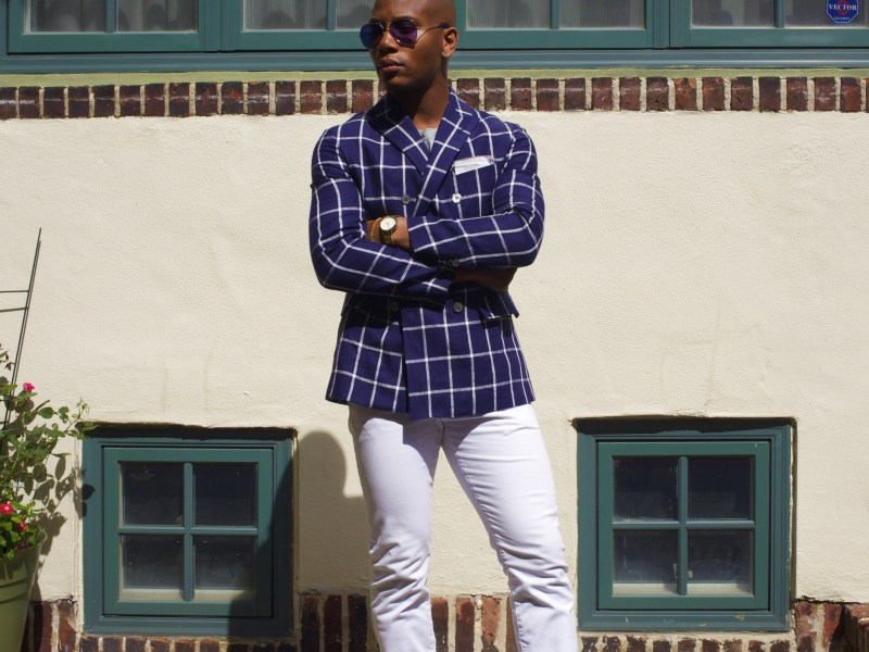 Sabir M. Peele of Men's Style Pro Summer's Menswear Essentials 2016 sponsored by I.W. Harper Whiskey
