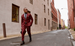 Oliver Wicks Burgundy Men's Suit