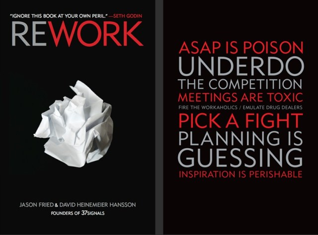 rework cover large entrepreneurs ... must read this book: Rework