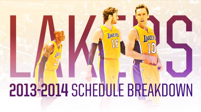 Lakers Schedule Breakdown 2013-214