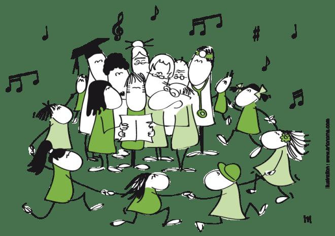 Chorale fond gris format image
