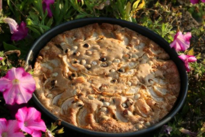 Quatre-quarts pommes et noisettes