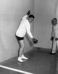 Babe Ruth Playing Handball
