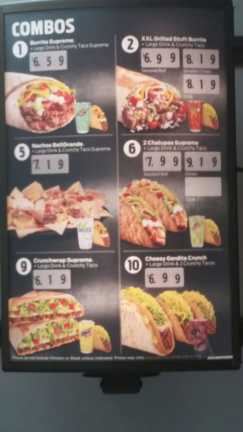 Large Of Taco Bell Meal Deals