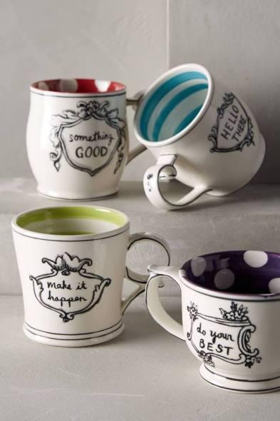 crowned leaf mugs