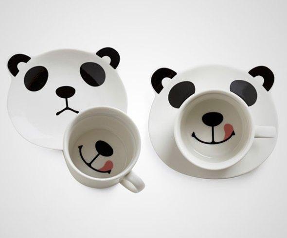 panda smile mug
