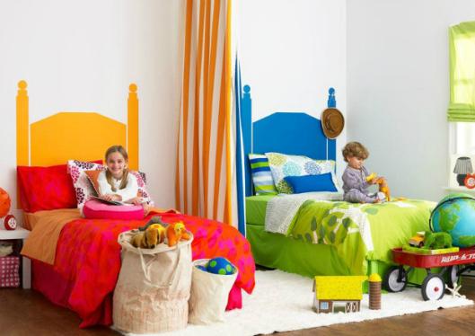 pareti dipinte cameretta condivisa