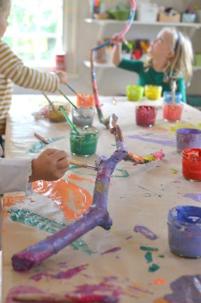 decoriamo un ramo arte bambini