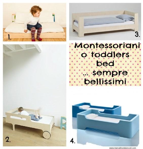 lettini cameretta montessori toddler bed