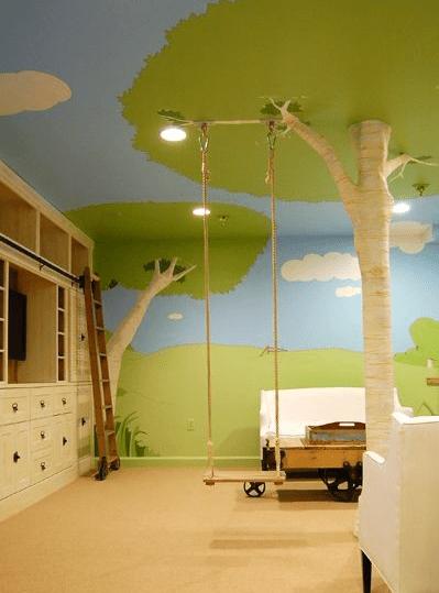 albero cameretta altalena