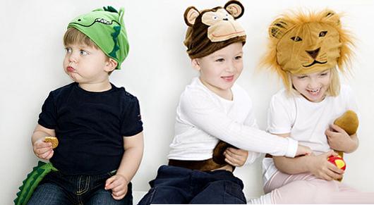 Cappello e coda da Coccodrillo, Scimmia e Leone