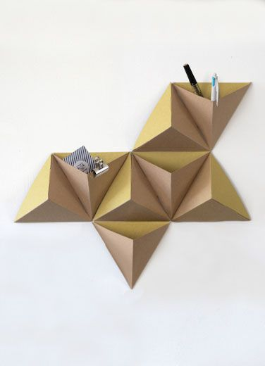 mensola triangoli cartone