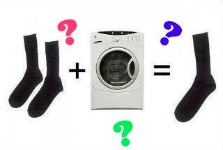 mistero calzini lavatrice