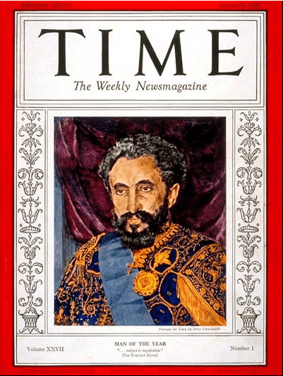 Haileselassie I TIME magazine 1936 man of the year