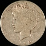 image of Peace Dollar obverse