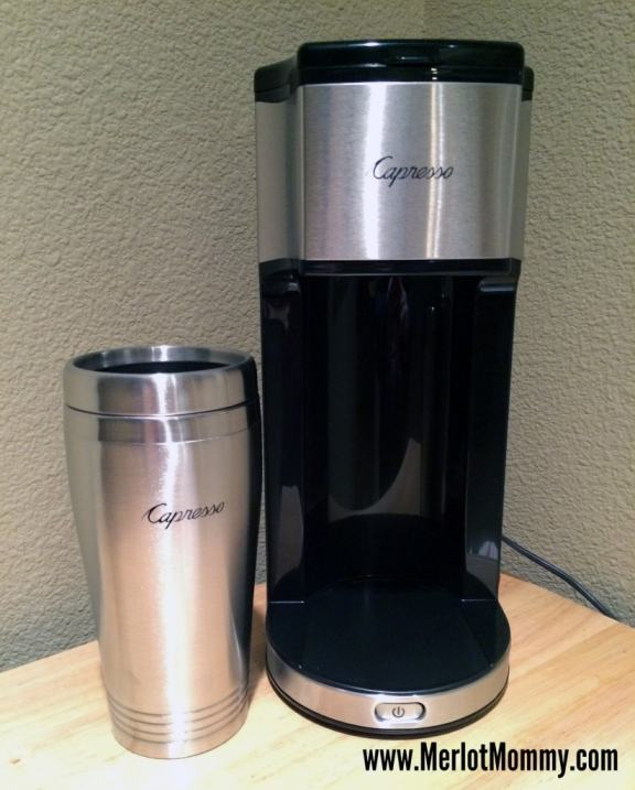 Capresso Personal Coffee Brewer and Bean Grinder {Review} and #Giveaway ends 11/26 - Merlot Mommy