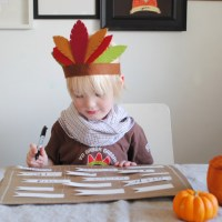 DIY Thanksgiving Placemat