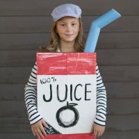 Make a Juice Box Costume from a Cardboard Box