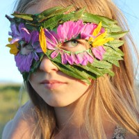 DIY Nature Mask with Leaves and Flowers