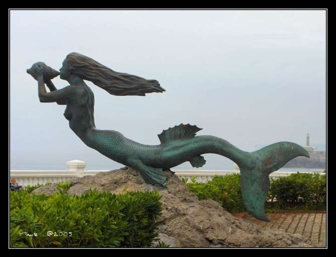Mermaid Sirena Magdalena in Santander Spain