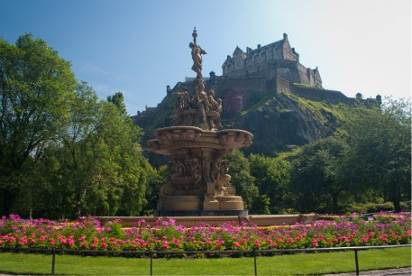 The Ross Fountain in Edinburgh.