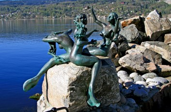 Drøbak Mermaid Sculpture