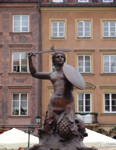 Syrenka Mermaid Statue in Warsaw