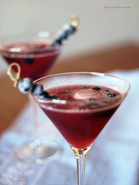 Maple cranberry bourbon martini.