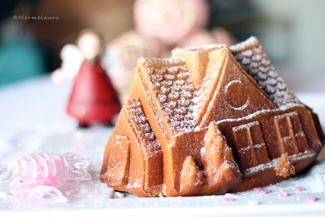 Gingerbread house bundt cake.