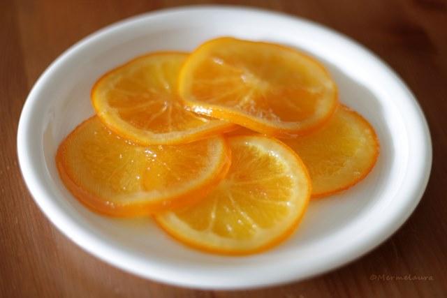 Naranjas confitadas.