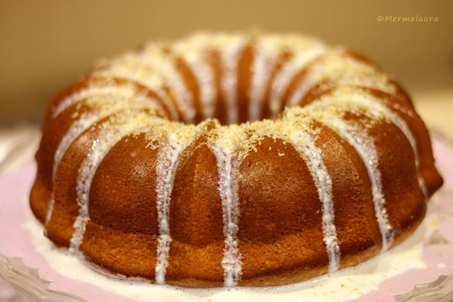Coconut tea cake.