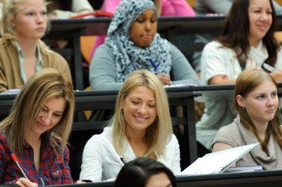 Undergraduates at study