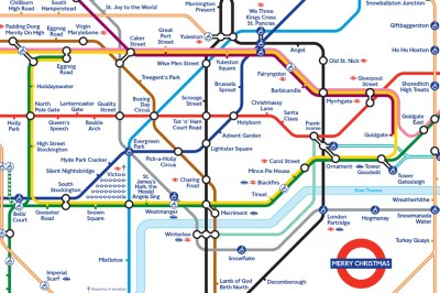 Christmas tube map